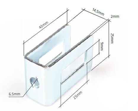 Příchytka plotového dílu do zdi / kovu, antracit RAL7016
