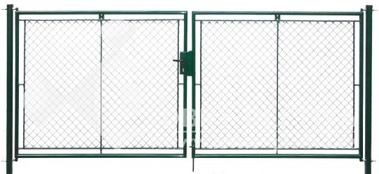 Vjezdová brána výška 100 cm, šířka 360 cm na zámek FAB zelená
