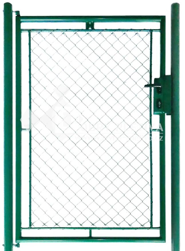 Branka zahradní jednokřídlá - zelená, výška 150 cm, šířka 120 cm s FAB