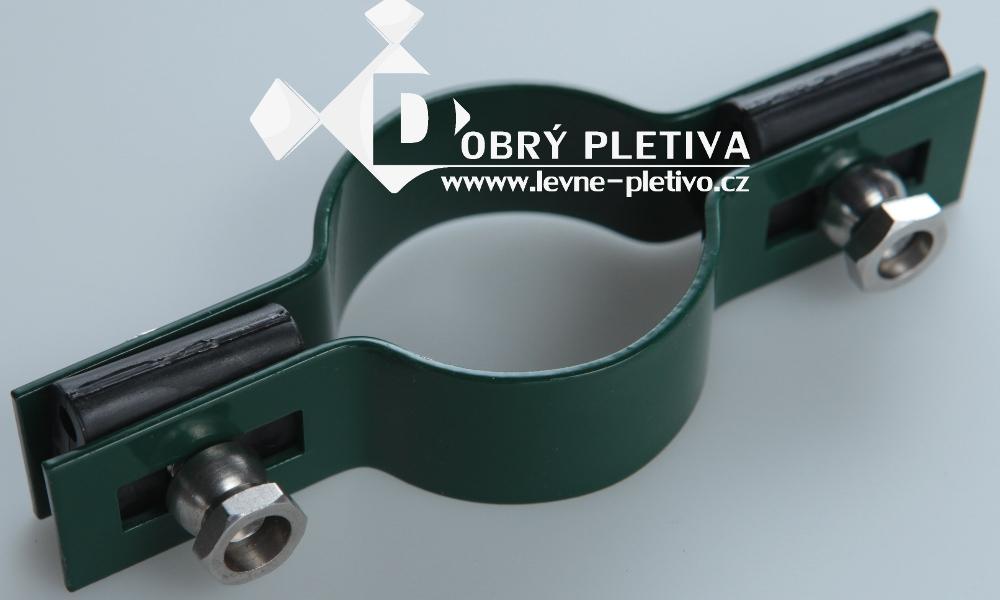 Příchytka plotového dílce - průběžná zelená - sloupek 48 mm
