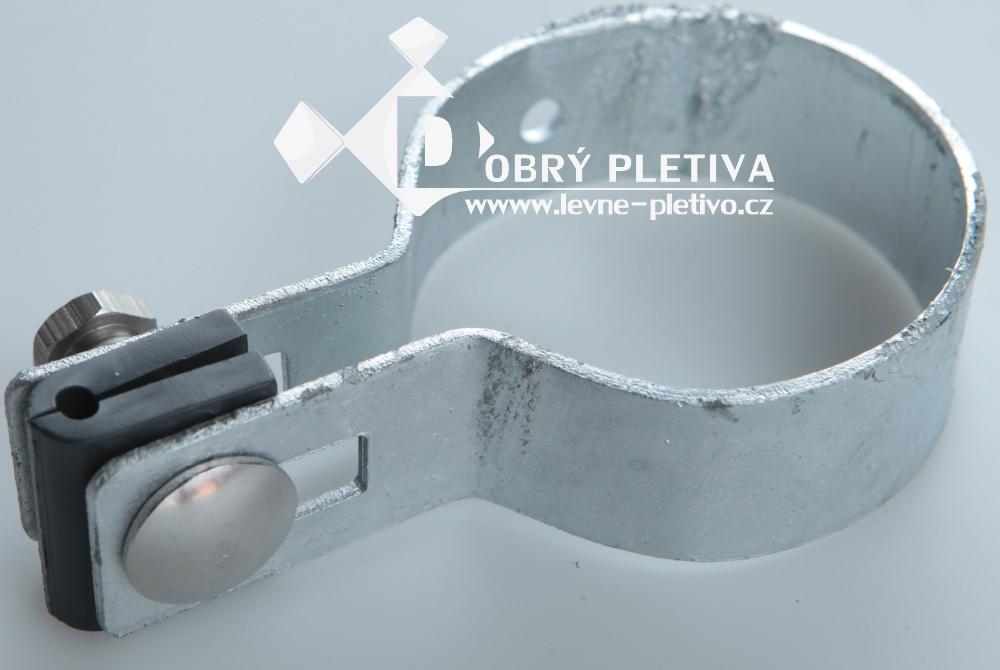 Příchytka plotového dílce - koncová zinková - sloupek 48 mm