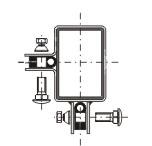 Příchytka plotového dílce - rohová zinková - jackl 60 x 40 mm