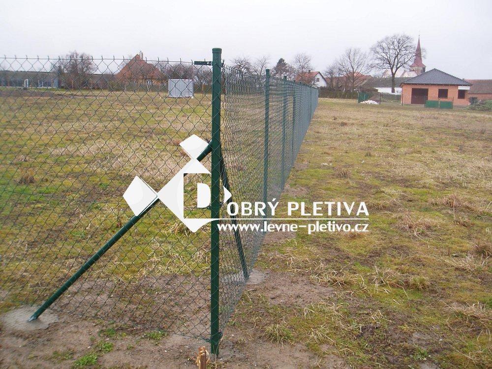Plotový sloupek výška 230 cm, průměr 48 mm zelený